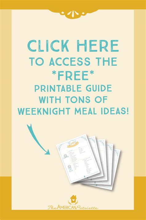 free printable meal planning guide meal planning ideas free downloadable guide the