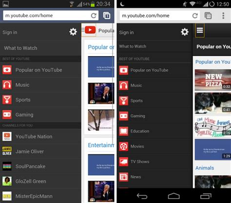 web version on mobile android mobile web ui interface f 233 vrier 2014