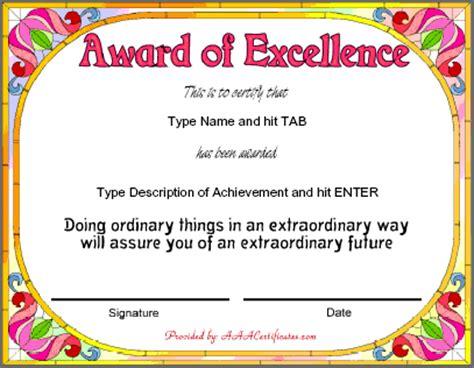 certificates for teachers award certificates award of