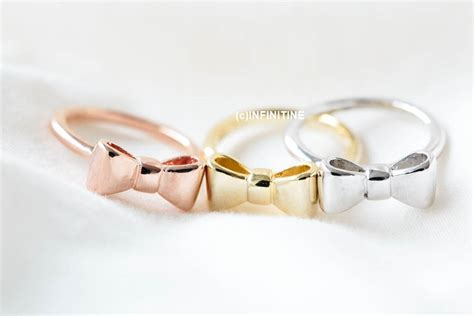 big bow tie knuckle ring rn2554 on luulla