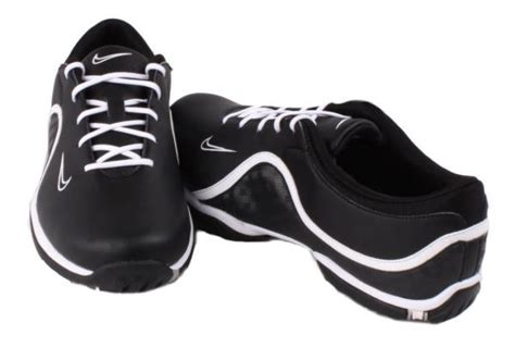 nike ace womens black white water resistant leather golf