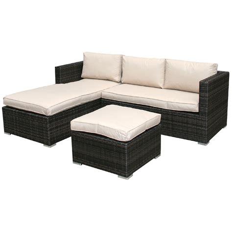 l shaped outdoor sofa charles bentley garden l shaped rattan outdoor sofa set