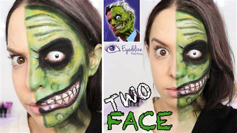 makeup tutorial two face two face batman green makeup tutorial by eyedolizemakeup