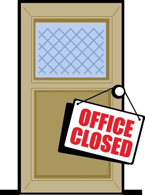 office closed sign template template design