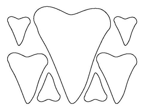 shark teeth pattern use the printable outline for crafts