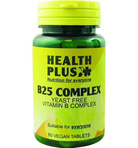 Vitamin B Complex Plus b25 yeast free vitamin b complex 60 vegan tablets