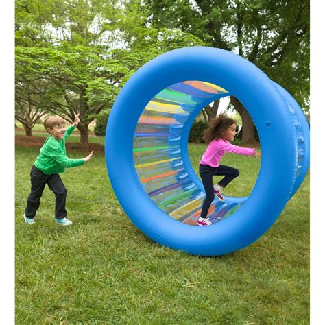 backyard toys for adults roll with it giant inflatable colorful wheel giant