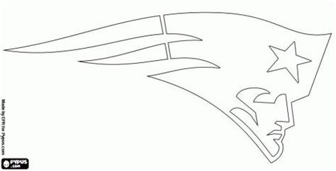 nfl coloring pages patriots nfl team outlines new england patriots logo american