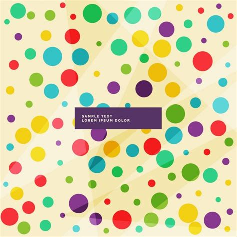 color dots color dots on a light background vector free