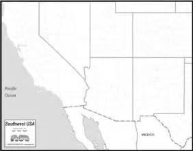 blank us map southwest region mapsto print southwest states region map