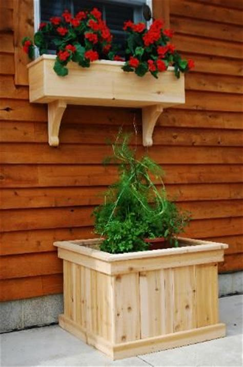window planter box furniture woodworking plans how to