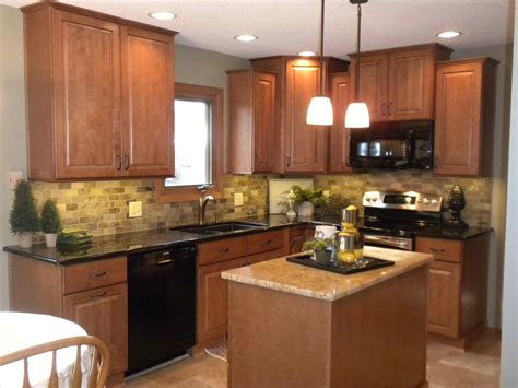 kitchen paint ideas with oak cabinets and black appliances