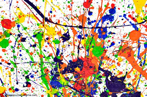 How To Lay Out Kitchen jackson pollock inspired art project the resourceful mama
