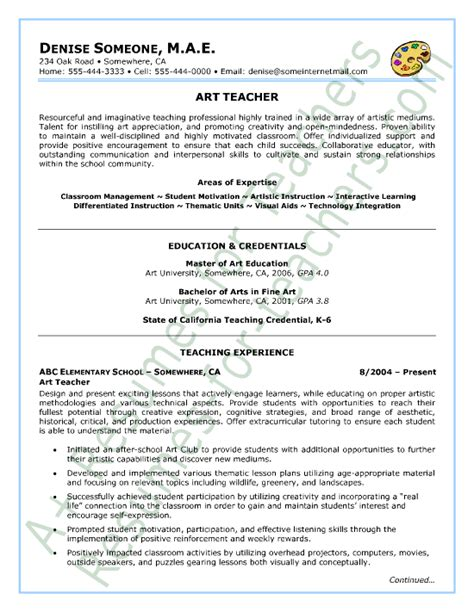 Writing A Teaching Resume by Resume Sle Sle Resume And Special Education