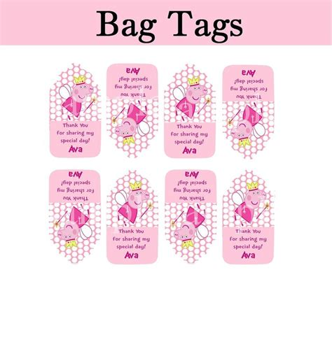 goodie bag tag template 17 best images about peppa pig birthday ideas on
