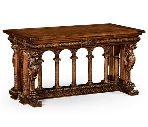 French renaissance style library table