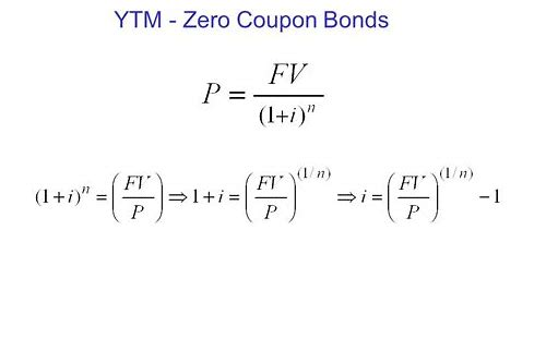 zero coupon yield equation