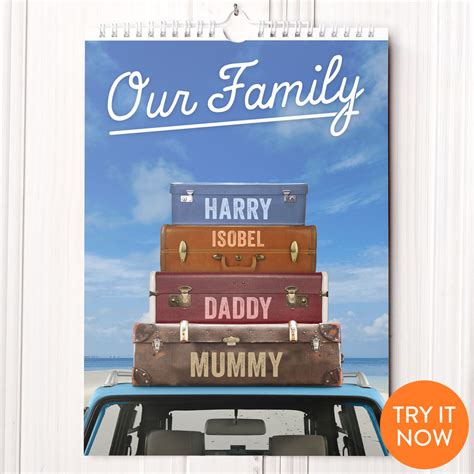 Personalised Calendar Personalised Our Family Calendar 7th Edition