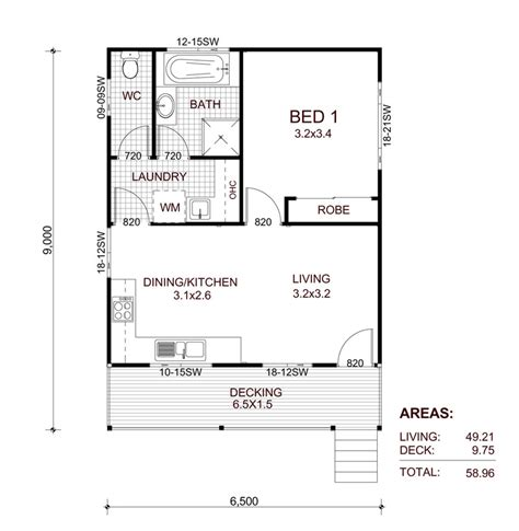 1 bedroom floor plan granny flat transportable homes kit home designs