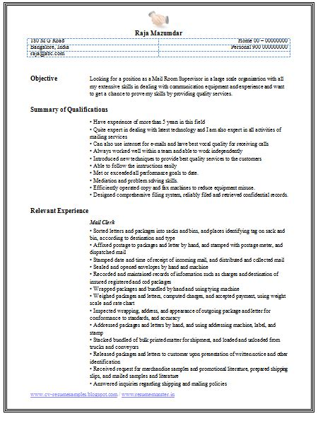 Job Resume Mail by Professional Curriculum Vitae Resume Template For All