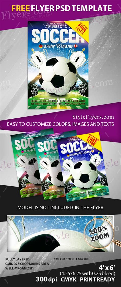 Soccer Free Psd Flyer Template Free Download 11532 Styleflyers Flyer Template Psd 2