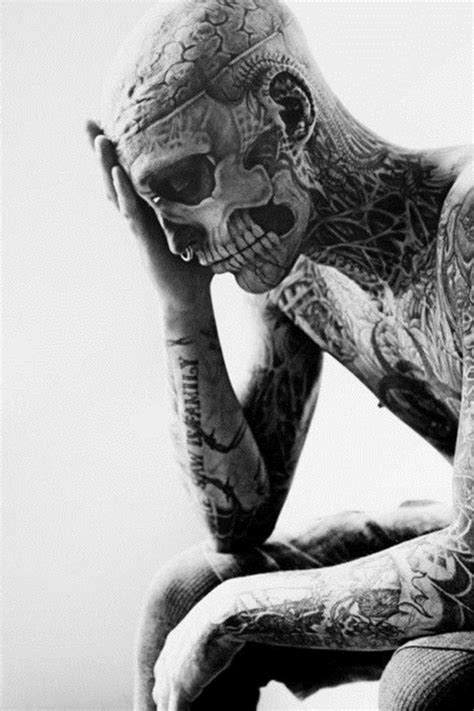 man with full body zombie tattoo 40 skeleton tattoo designs for boys
