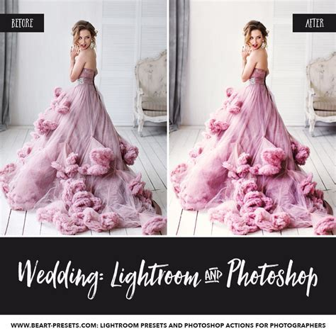 Wedding lightroom presets, photoshop actions and acr presets