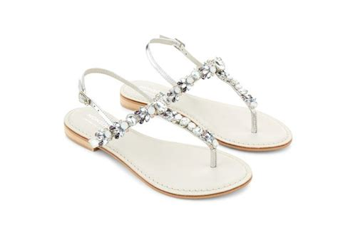 Monsoon Jewelled Sandals by The Manager Elizabeth Debicki Sizzles As Jed