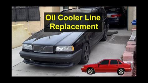 engine oil cooler  replacement turbo volvo   xc  votd youtube