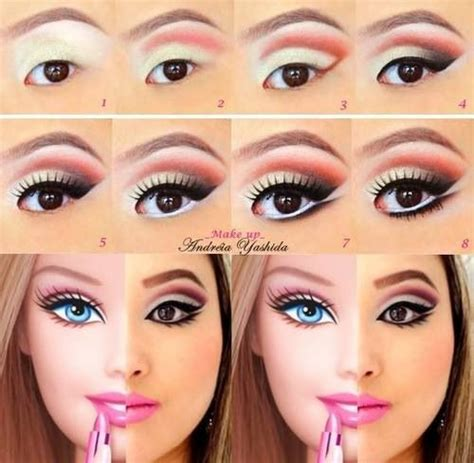 tutorial makeup barbie natural halloween make up make up anleitungen and kost 252 me on