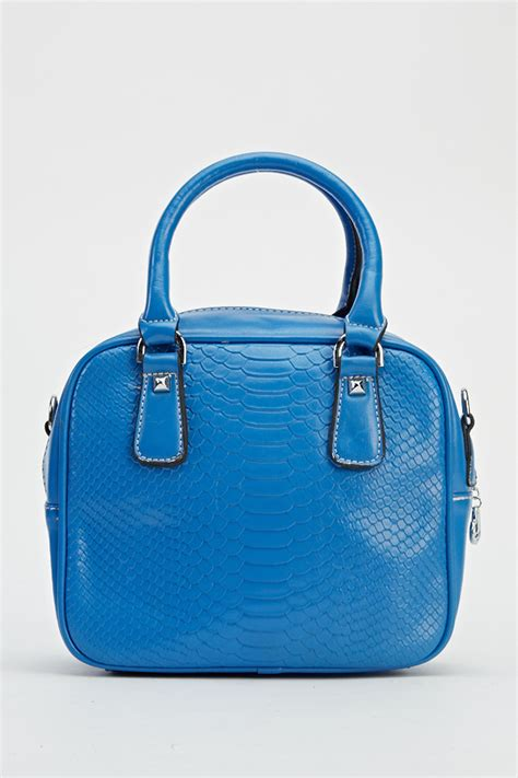 Top Five Mock Croc Bags by Blue Mock Croc Small Handbag Just 163 5