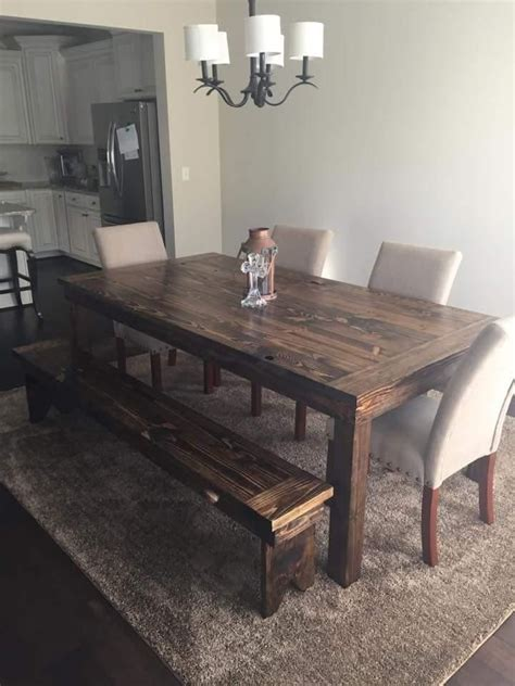 farmhouse style wood dining bench 25 best ideas about rustic wood tables on pinterest