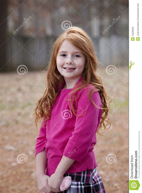 7 year old hair seven year old red haired girl stock photo image 12228522