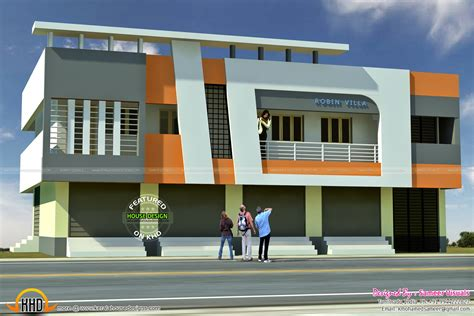 shop with house plans 5 shop with residence 2620 sqft kerala home design and