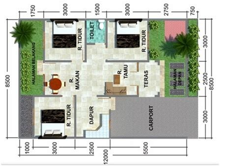 desain kamar mandi rumah sederhana desain rumah minimalis sederhana 1 lantai 3 kamar tidur