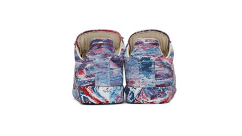 tie and dye maison 172 disappear here maison margeiela tie dye repica sneaker