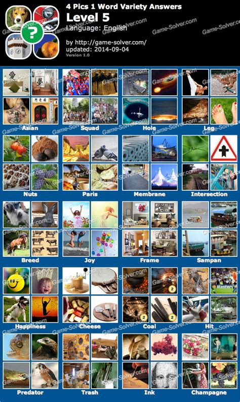 4 pics 1 word answers 5 letters 4 pics 1 word variety level 5 solver 1045