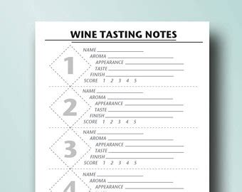 wine journal template kneady batch designs on etsy handmade hunt