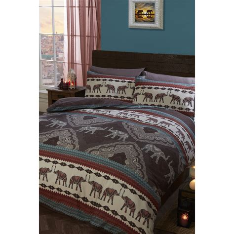 Bedding The Range Paisley Elephant Duvet Cover And Pillowcase Set