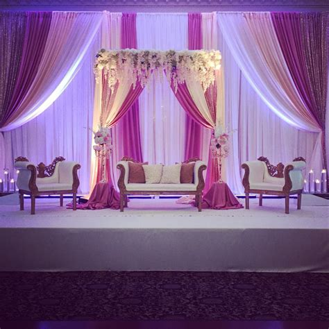 Wedding Banquet Backdrop by Blush Pink Reception Backdrop With Florals Indian