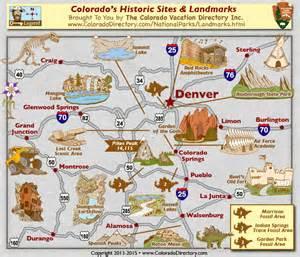 colorado national historic fossil landmarks map