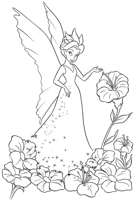 tinkerbell coloring pages adult coloring pages of tinkerbell and friends coloring pages