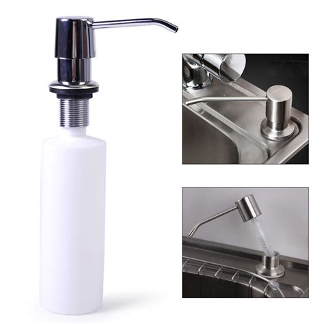 kitchen bathroom sink soap lotion dispenser stainless