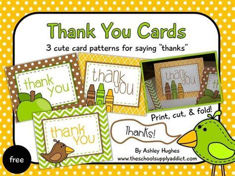 thank you card templates bi fold pin by wendy schmit on school stuff