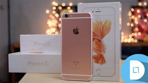 gold iphone 6s unboxing