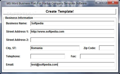 Ms Word Business Plan For Startup Company Template Software Download Microsoft Word Business Plan Template
