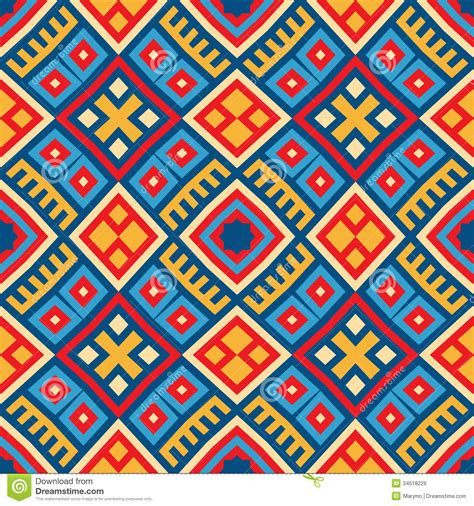 red color pattern design colorful seamless ethnic pattern background stock vector