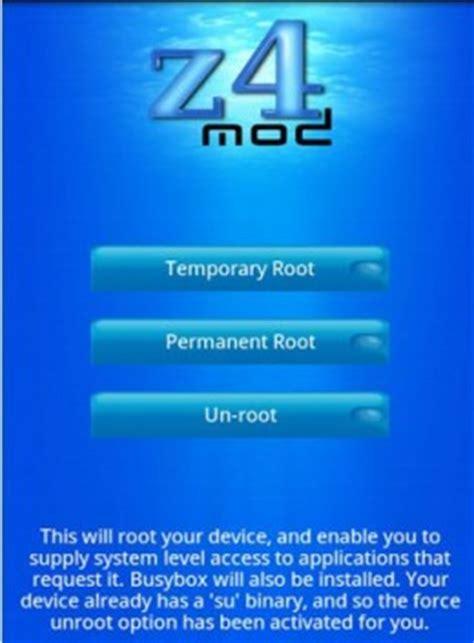 zroot apk descarga z4root apk y rootea tu android con un click