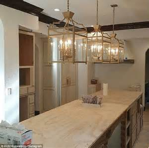 Kitchen Island Chandeliers It S Finally Finished Vicki Gunvalson Shows Off