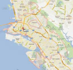 oakland california map and oakland california satellite image